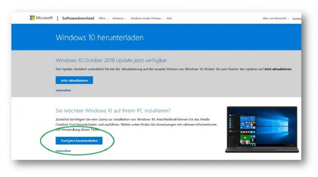 Windows 10 neu installieren (Clean Install)