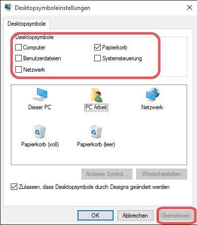 Desktopsymbole fehlen - so nachrüsten