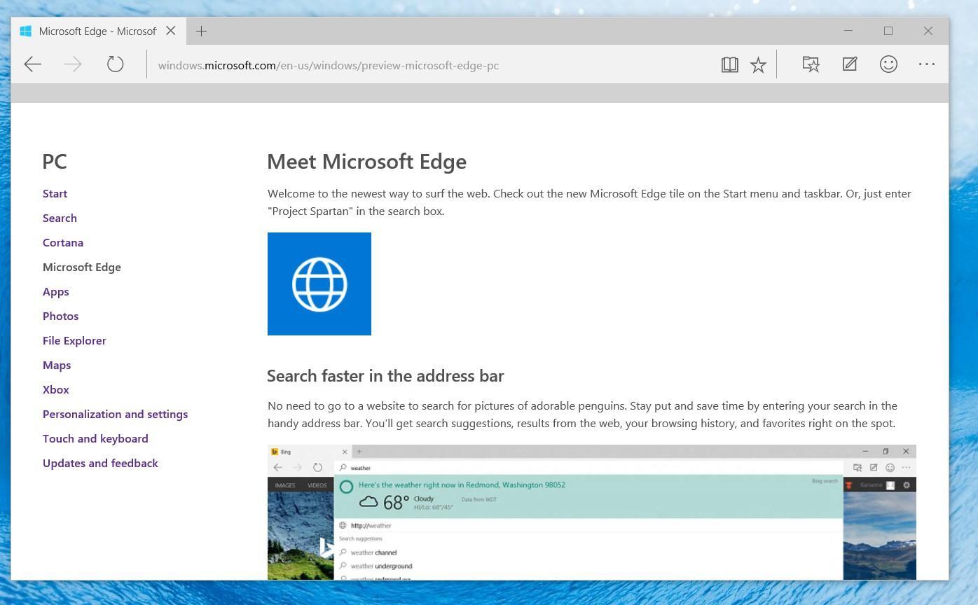 Edge Browser: Webseiten für den Start vordefinieren