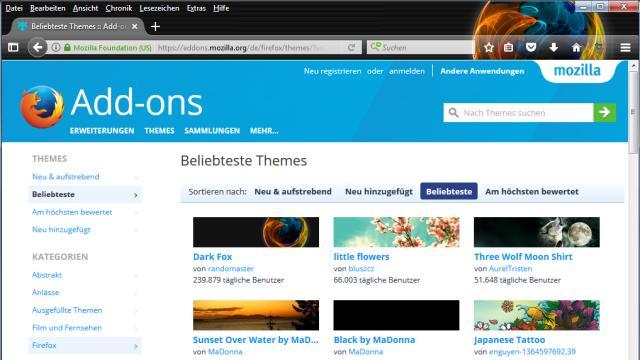 Im Firefox den Windows Dark Theme anpassen