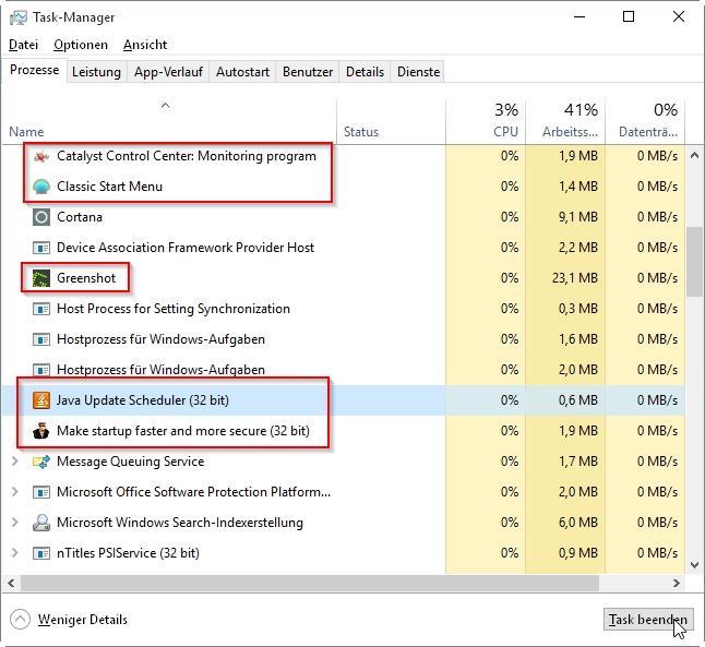 CPU-Auslastung unter Windows 10 senken - so gehts