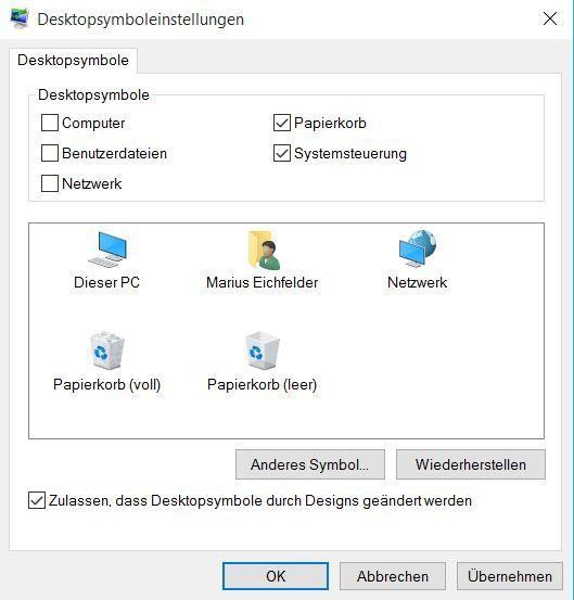 Desktopverknüpfung zur Systemsteuerung erstellen
