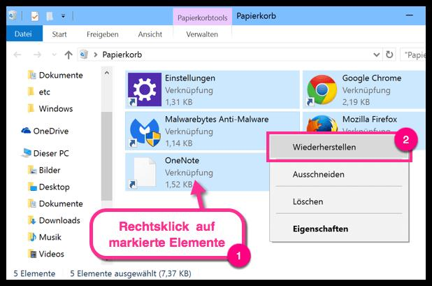Unter Windows 10 gelöschte Fotos wiederherstellen - so gehts