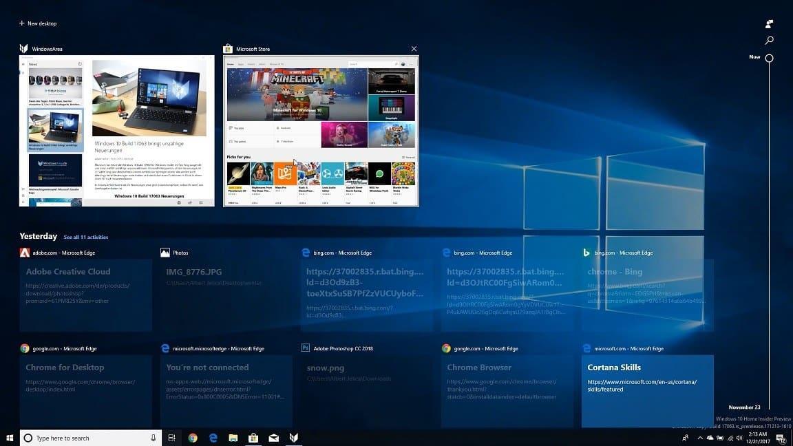 Zeitachse in Windows 10 deaktivieren - so geht es