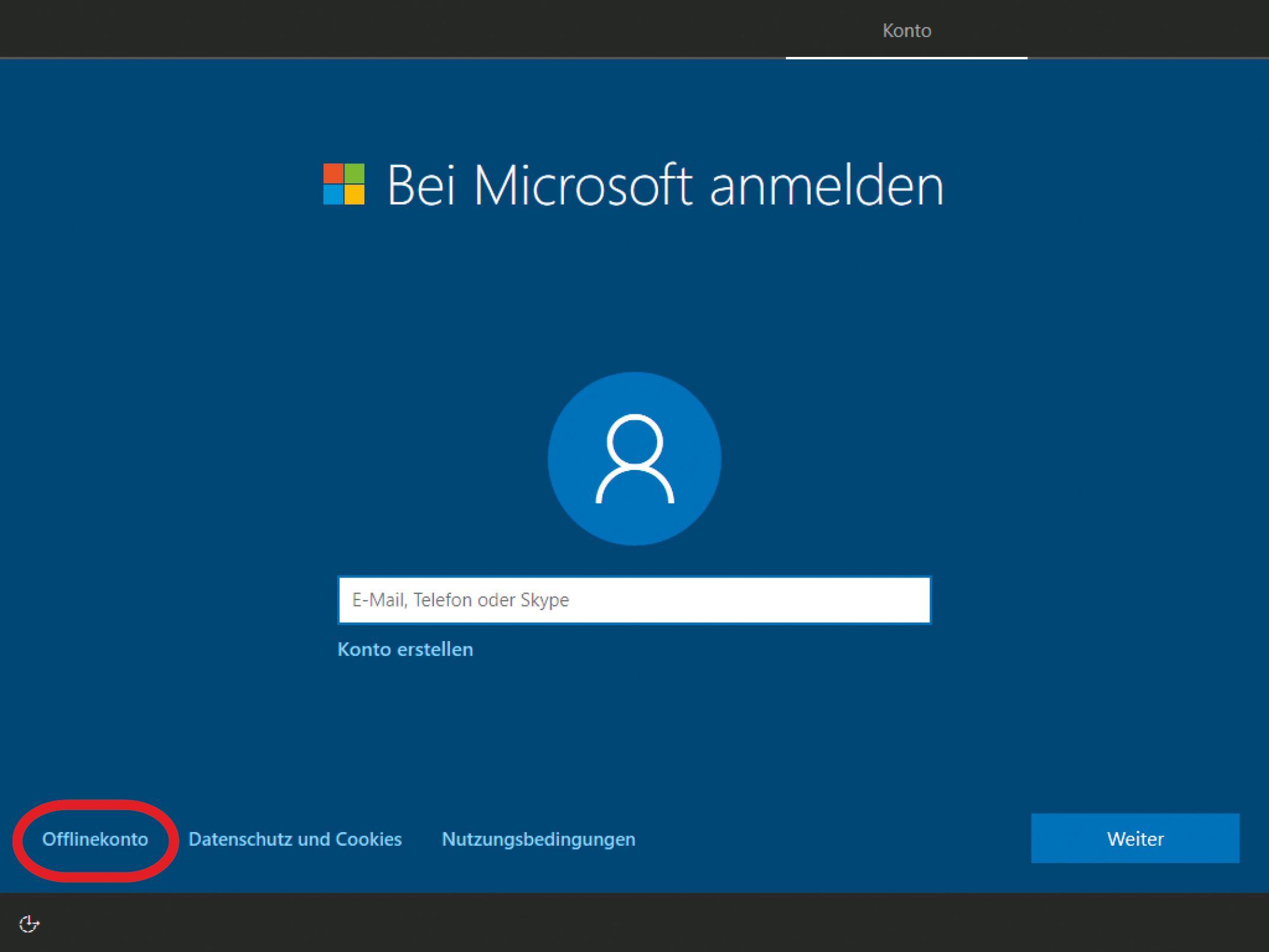 Windows 10 ohne Microsoft-Konto installieren - so gehts