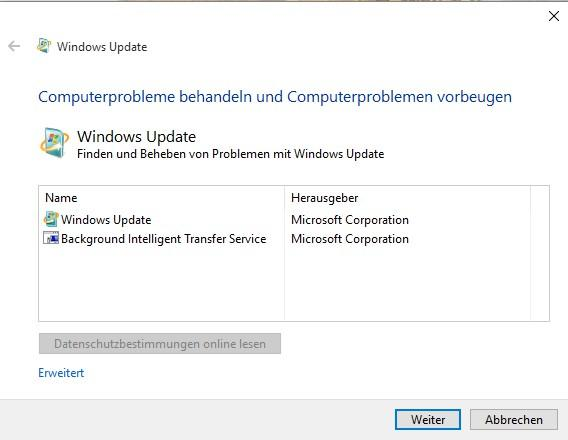 Windows-Firewall: Fehlercode 0x80070424 bei Update