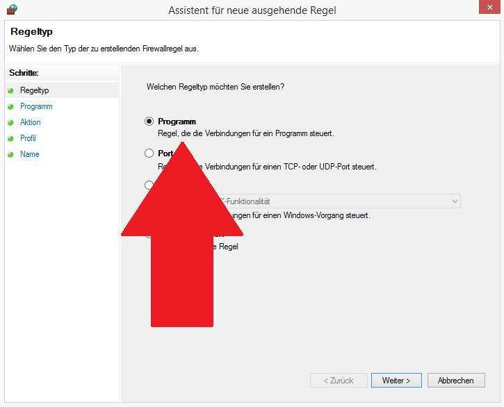 Mit Windows Firewall Programme blockieren - so gehts