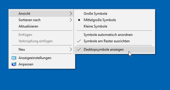 Windows 10: Desktop weg nach Update