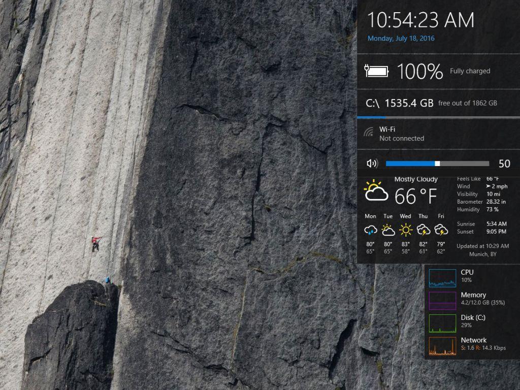 Wetter auf dem Windows Desktop anzeigen