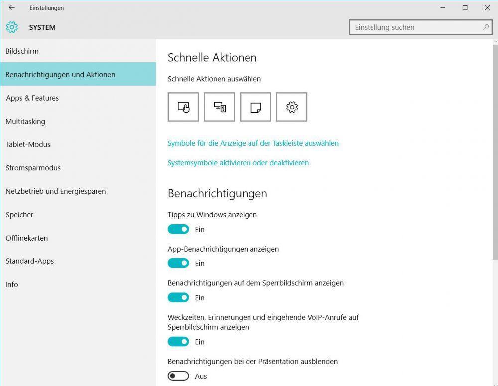 Windows 10: Anpassen des Info-Centers - Die besten Tipps