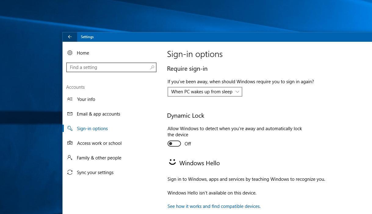 Dynamic Lock unter Windows 10 einrichten und aktivieren