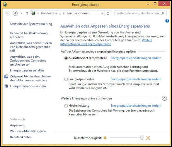 So können Sie die Energieoptionen bei Windows 10 optimal einstellen