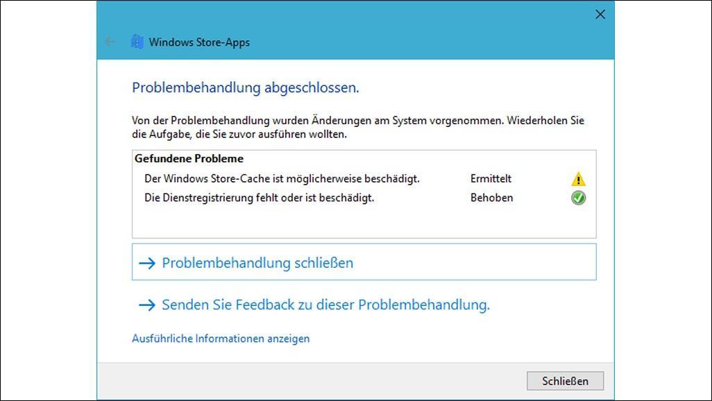 Windows 10: App Store öffnet sich nicht