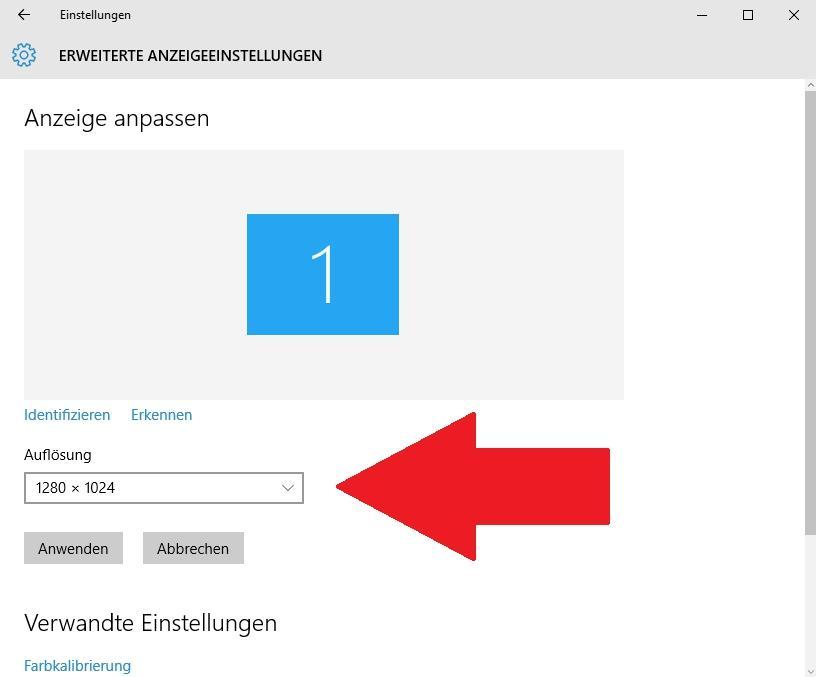Auflösung ändern in Windows 10 - so klappt es