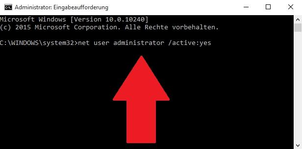 Konto für Systemadministrator in Windows 10 aktivieren