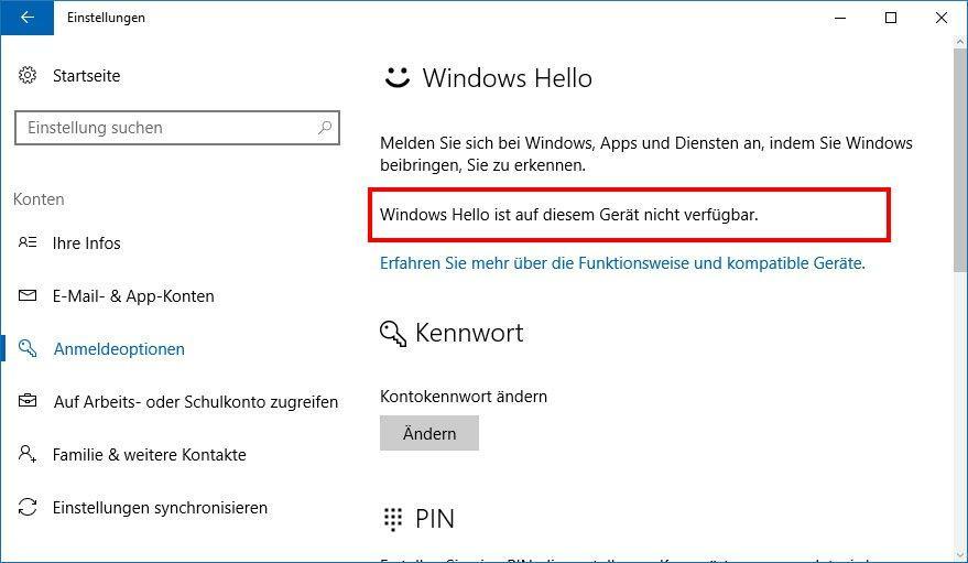 Windows Hello einrichten und aktivieren - so klappts
