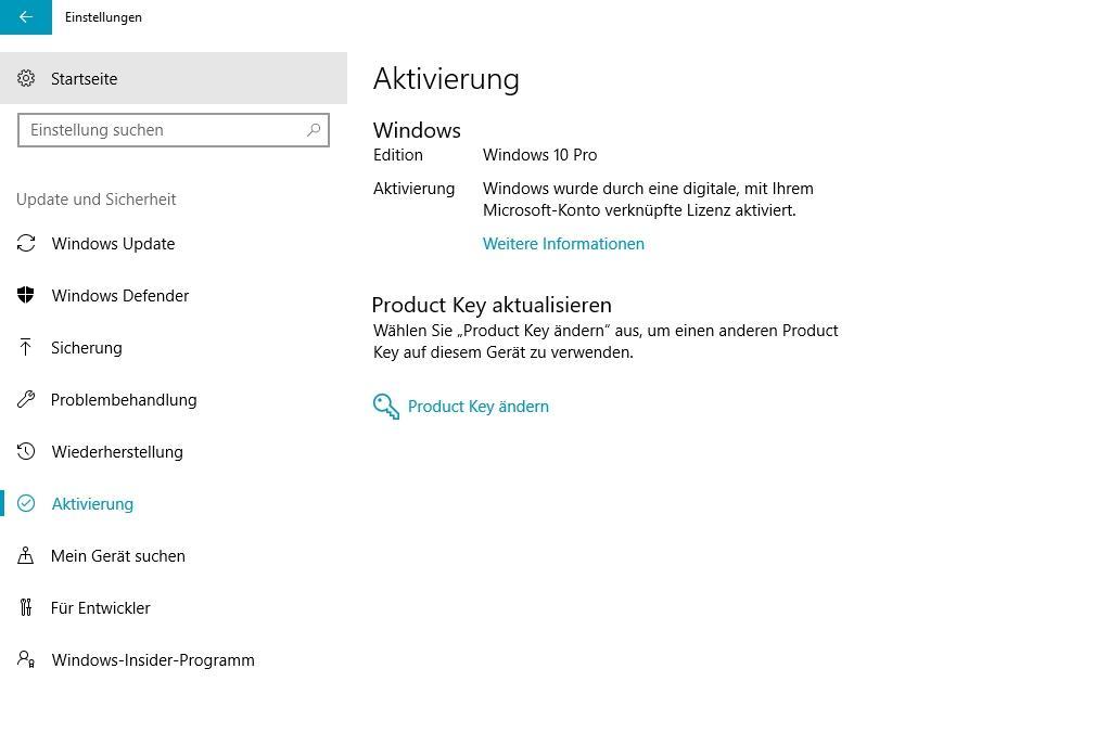 Windows 10 Lizenz auf neuen PC übertragen