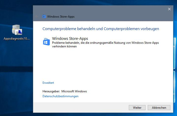 Apps starten nicht in Windows 10