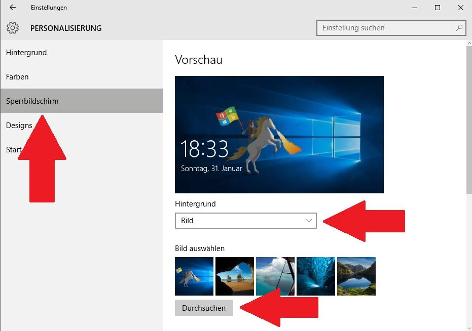 Sperrbildschirm ändern in Windows 10 - so funktioniert es
