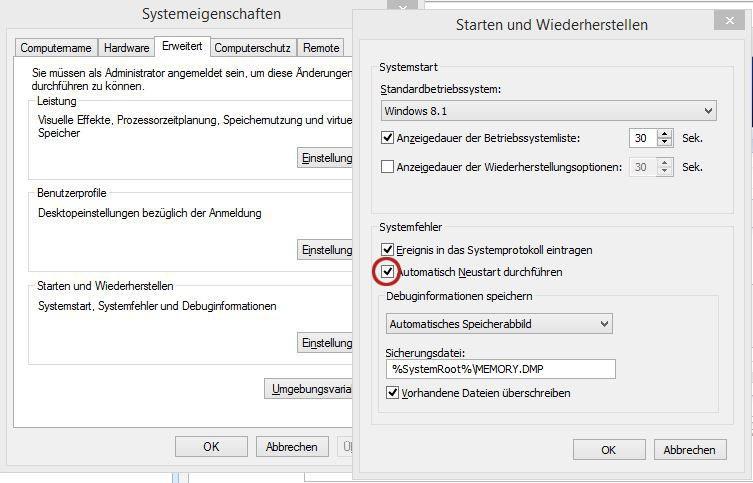 Windows 10 wird automatisch heruntergefahren - was nun?