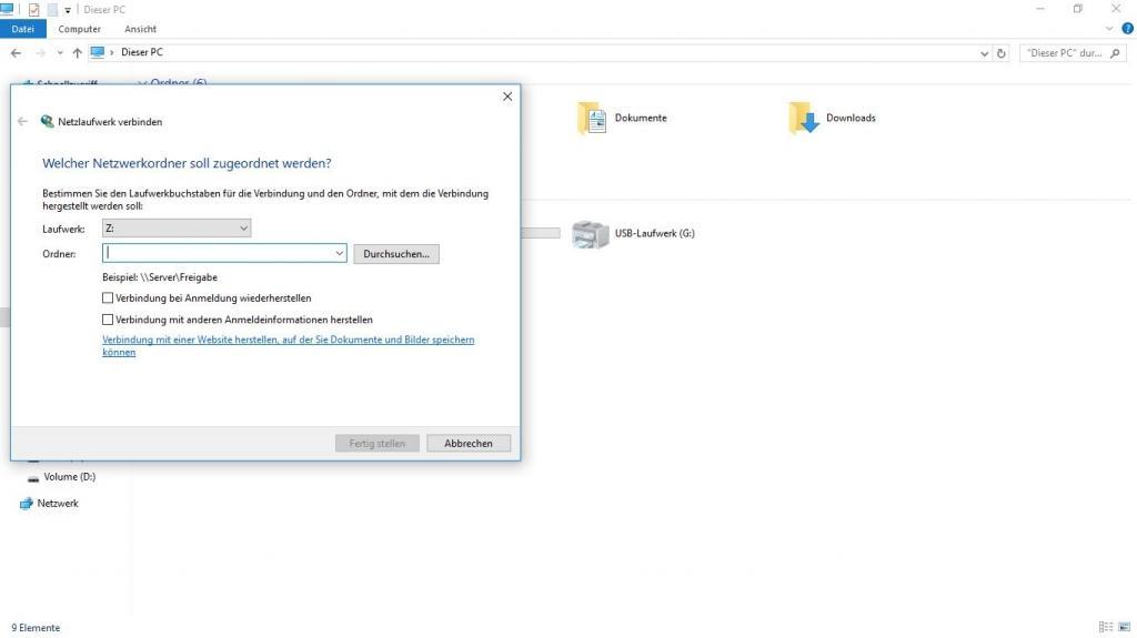 Netzlaufwerk unter Windows 10 einrichten