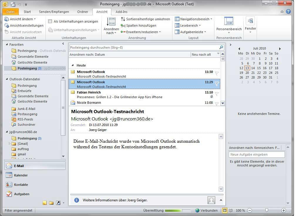 Outlook-Fehler 0x800ccc92 beheben - so klappt es