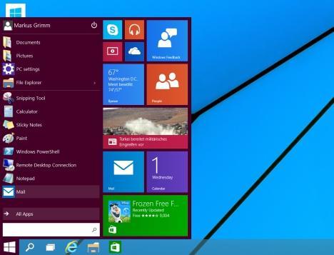 Startmenü in Windows 10 vergrößern und verkleinern
