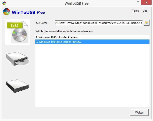 Windows 10 auf USB Stick installieren und booten