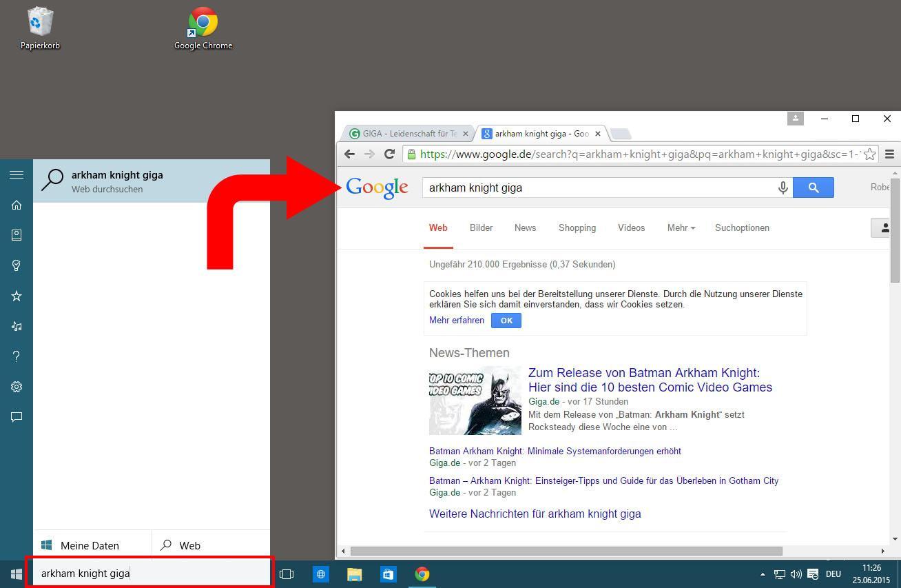 Standard-Suchmaschine von Bing auf Google ändern (auch Cortana)