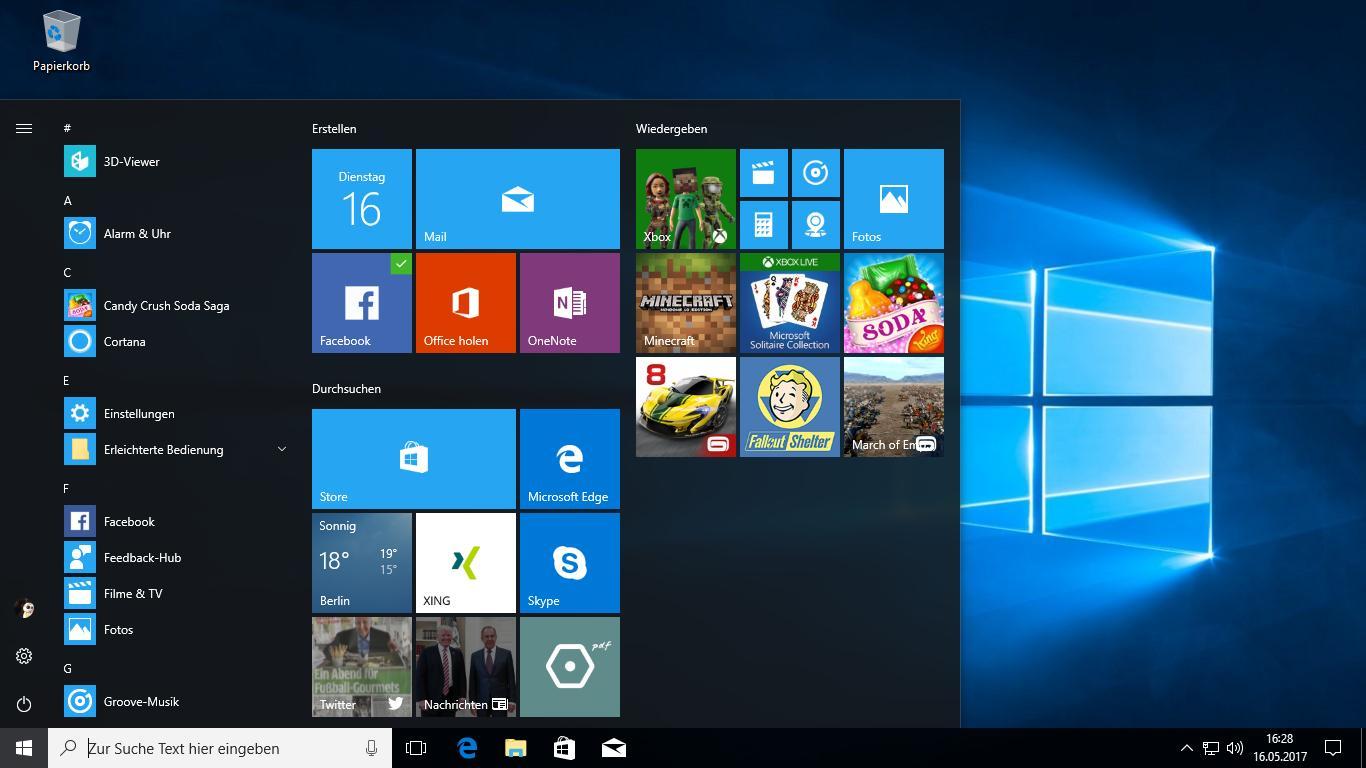 Unter Windows 10 auf dem Desktop die Versionsnummer anzeigen lassen