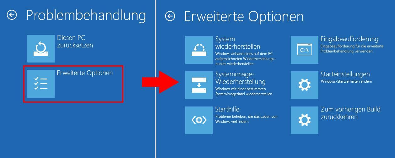 Windows 10: Erweiterte Startoptionen aufrufen und starten
