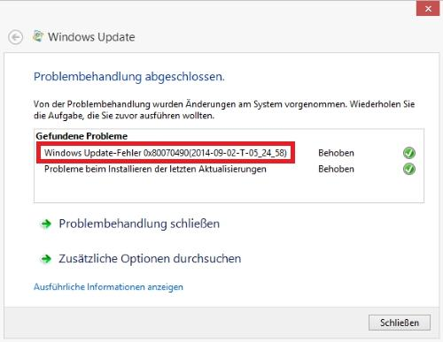 0x80070490 Windows Update Fehler beheben