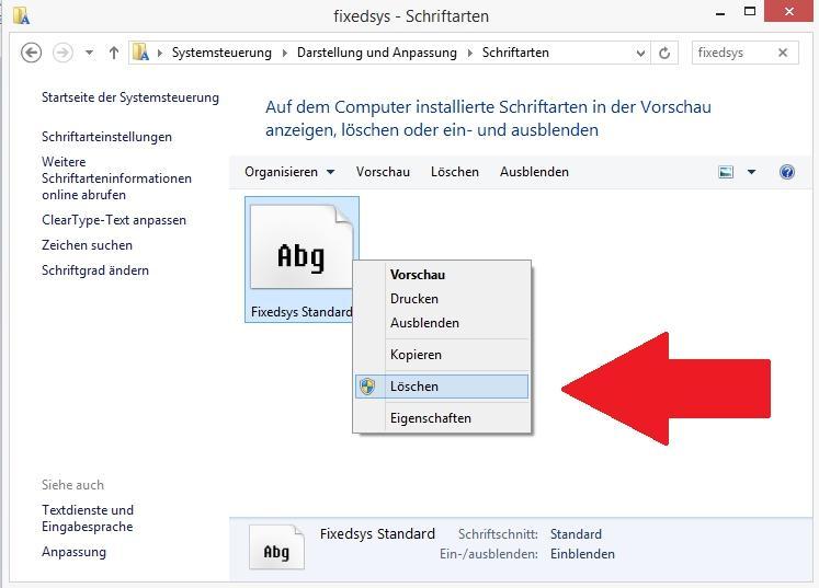 Schriften löschen in Windows 10 - so geht es