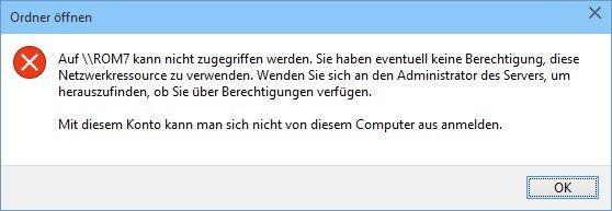 Kein Zugriff auf Netzwerk, Dateien und Ordner in Windows 10 - so gehts