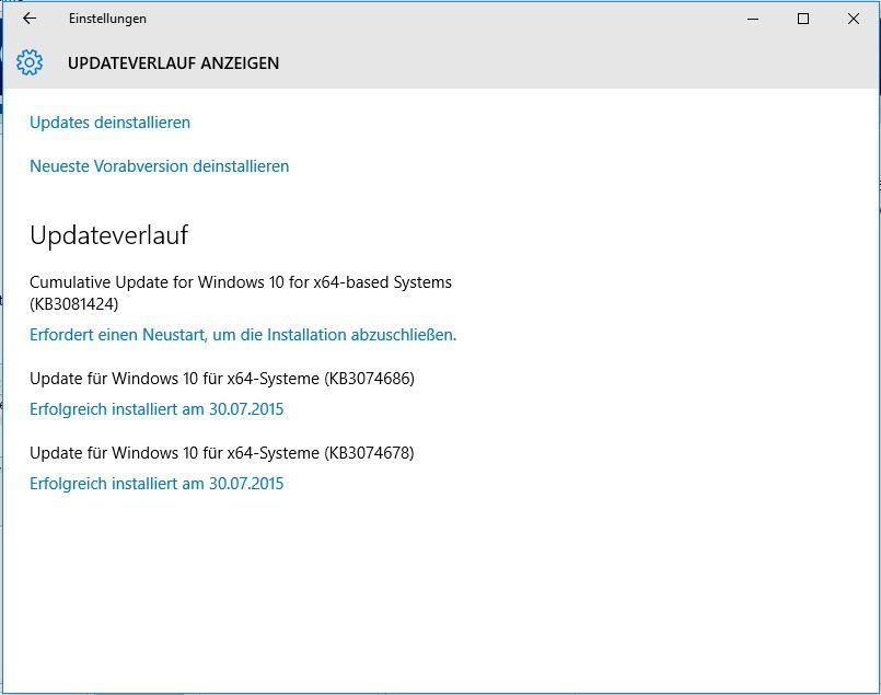 0x800f081f Fehler beim Windows Update beheben