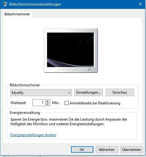 Windows 10: Aktivieren und Einrichten des Bildschirmschoners