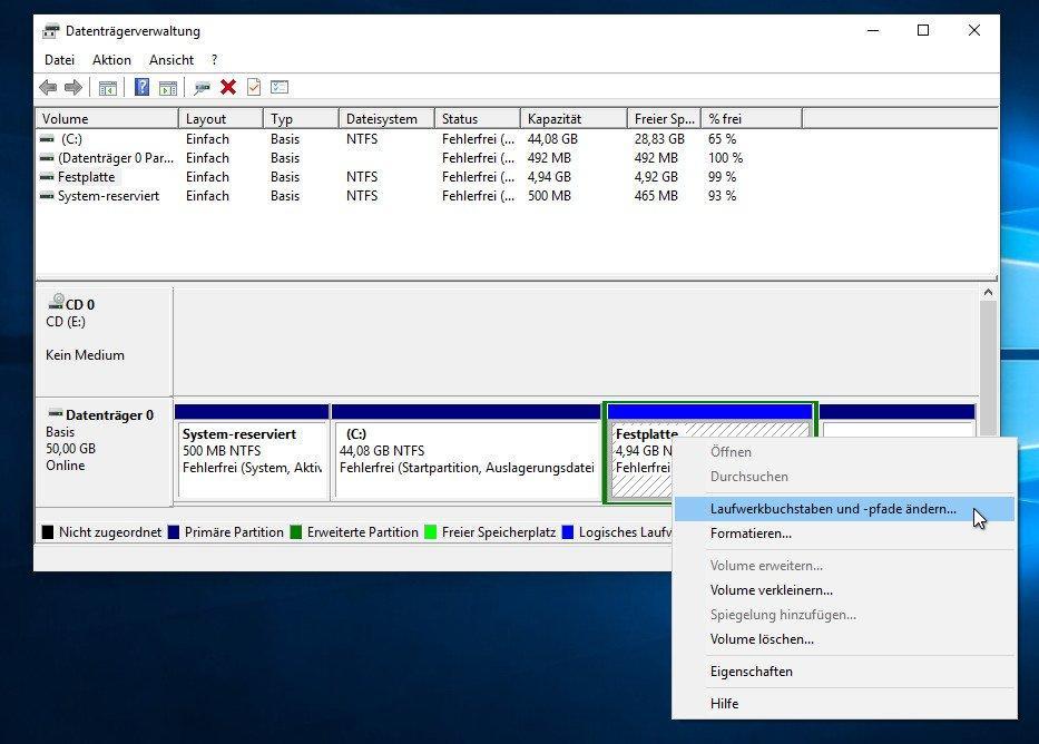 Windows 10 zeigt externe Festplatten nicht an - was tun?