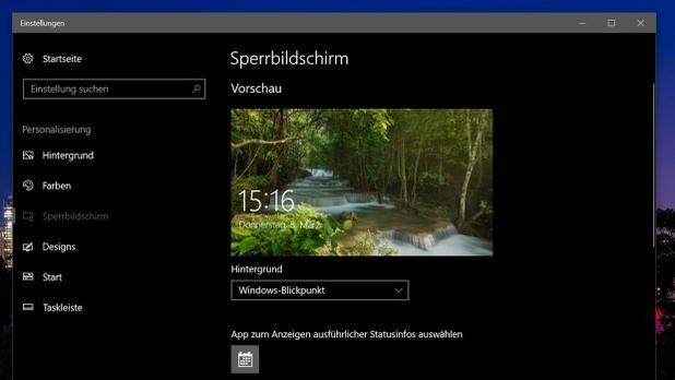 Sperrbildschirm unter Windows 10 mit eigenen Bildern - so geht es