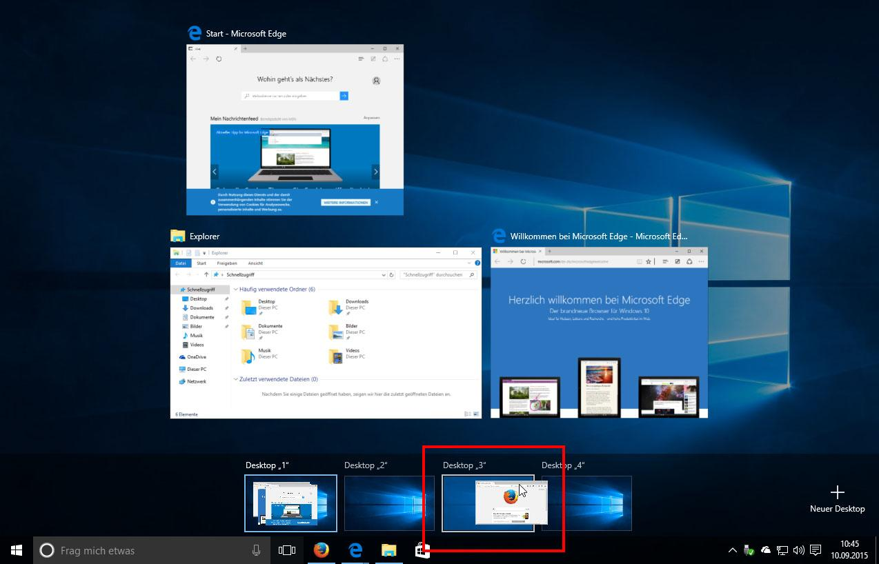 Virtuelle Desktops unter Windows 10 - was ist das?