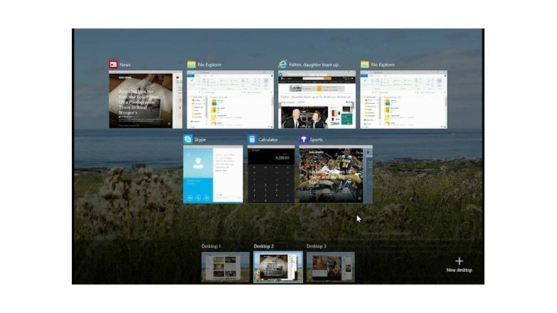 Anwendungen unter Windows 10 zwischen virtuellen Desktops verschieben