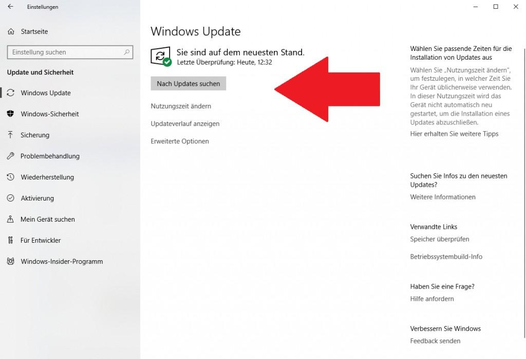 In Windows 10 nach Updates suchen - so funktioniert es