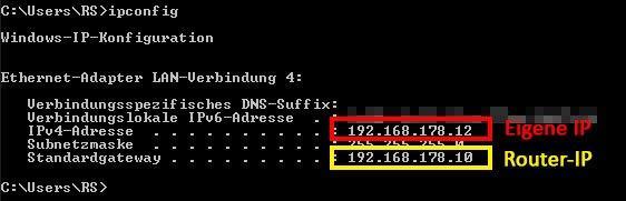 Die eigene IP-Adresse anzeigen lassen - so gehts